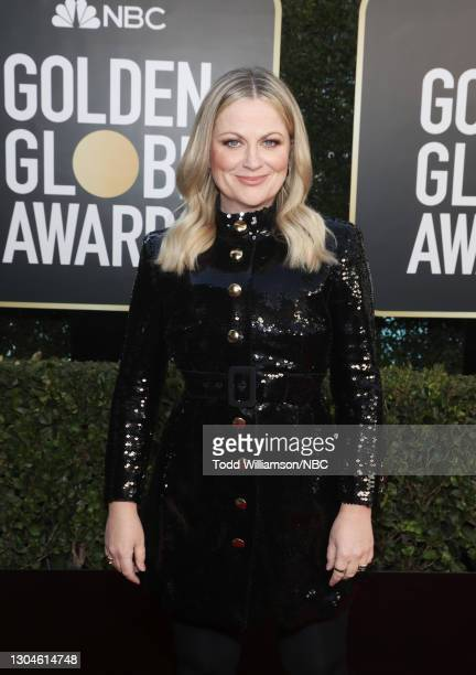 78th Annual GOLDEN GLOBE AWARDS -- Pictured: Co-host Amy Poehler attends the 78th Annual Golden Globe Awards held at The Beverly Hilton and broadcast...