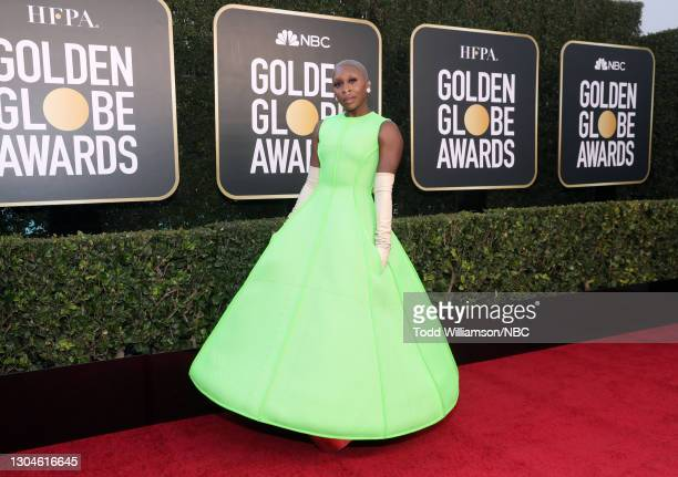 78th Annual GOLDEN GLOBE AWARDS -- Pictured: Cynthia Erivo attends the 78th Annual Golden Globe Awards held at The Beverly Hilton and broadcast on...
