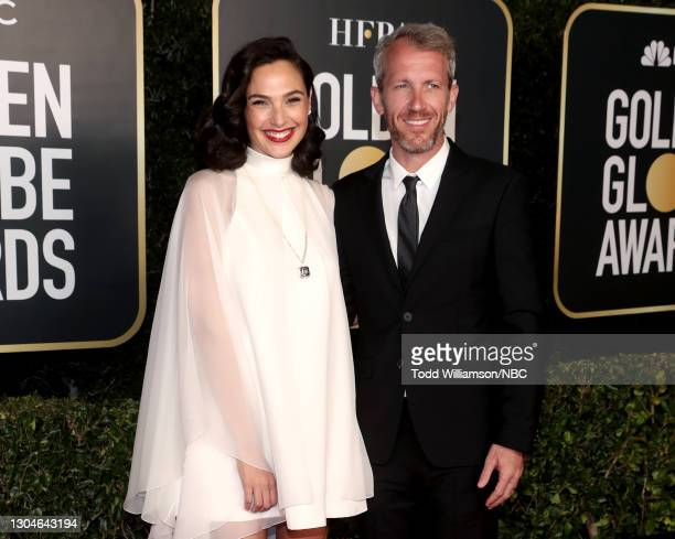 78th Annual GOLDEN GLOBE AWARDS -- Pictured: Gal Gadot and Yaron Varsano attend the 78th Annual Golden Globe Awards held at The Beverly Hilton and...