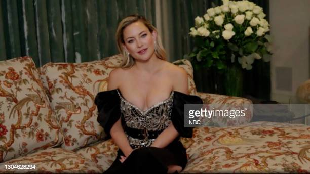 78th Annual GOLDEN GLOBE AWARDS -- Pictured in this screengrab released on February 28, Kate Hudson speaks during the 78th Annual Golden Globe Awards...