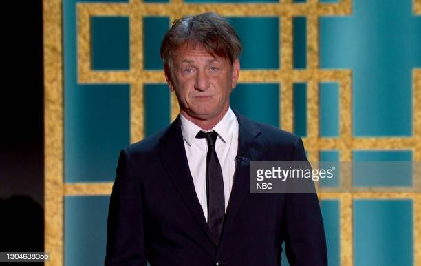 78th Annual GOLDEN GLOBE AWARDS -- Pictured in this screengrab released on February 28, Sean Penn speaks onstage at the 78th Annual Golden Globe...