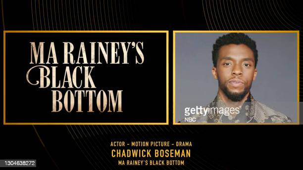 78th Annual GOLDEN GLOBE AWARDS -- Pictured in this screengrab released on February 28, Chadwick Boseman, winner of Best Actor in a Motion Picture –...