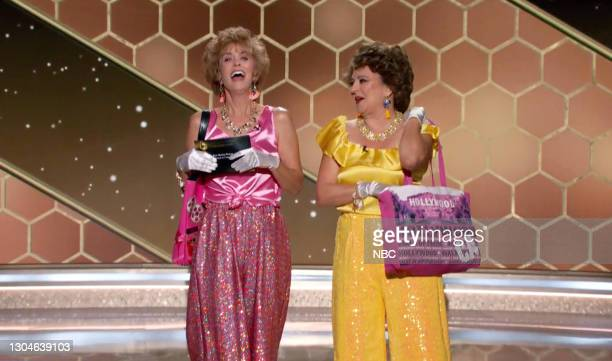 78th Annual GOLDEN GLOBE AWARDS -- Pictured in this screengrab released on February 28, Kristen Wiig and Annie Mumolo speak onstage at the 78th...