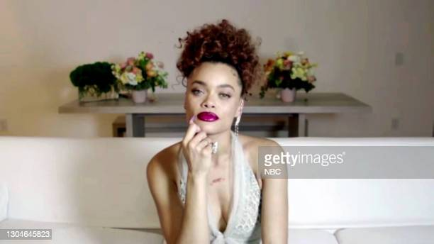 78th Annual GOLDEN GLOBE AWARDS -- Pictured in this screengrab released on February 28, Andra Day, winner of Best Actress in a Motion Picture – Drama...
