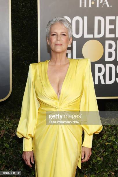 78th Annual GOLDEN GLOBE AWARDS -- Pictured: Jamie Lee Curtis attends the 78th Annual Golden Globe Awards held at The Beverly Hilton and broadcast on...