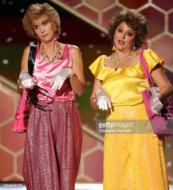 78th Annual GOLDEN GLOBE AWARDS -- Pictured: Kristen Wiig and Annie Mumolo speak onstage at the 78th Annual Golden Globe Awards held at The Beverly...