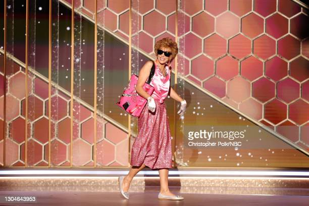 78th Annual GOLDEN GLOBE AWARDS -- Pictured: Kristen Wiig walks onstage at the 78th Annual Golden Globe Awards held at The Beverly Hilton and...
