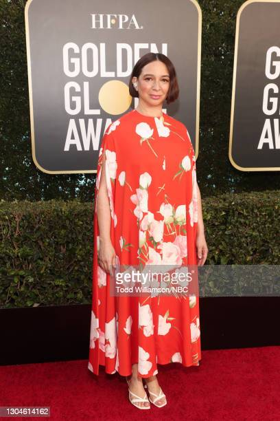 78th Annual GOLDEN GLOBE AWARDS -- Pictured: Maya Rudolph attends the 78th Annual Golden Globe Awards held at The Beverly Hilton and broadcast on...