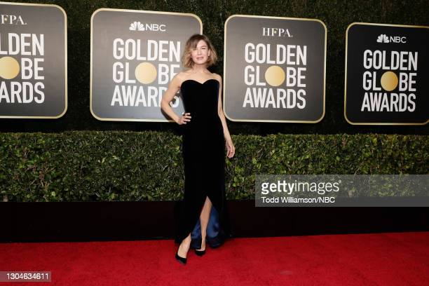 78th Annual GOLDEN GLOBE AWARDS -- Pictured: Renée Zellweger attends the 78th Annual Golden Globe Awards held at The Beverly Hilton and broadcast on...