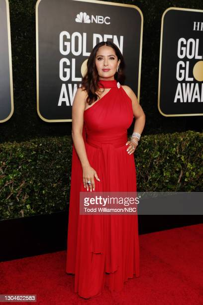78th Annual GOLDEN GLOBE AWARDS -- Pictured: Salma Hayek attends the 78th Annual Golden Globe Awards held at The Beverly Hilton and broadcast on...