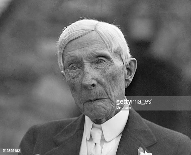 7/9/1933Pocantico Hills NY One of the most remarkable closeups ever made of the aged John D Rockefeller Sr retired oil king of the world who...