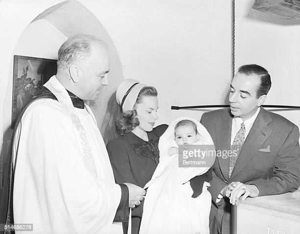 7/9/46Beverly Hills California Big event in the life of actress Judy Garland was this recent christening of her baby daughter Liza May Minnelli in...