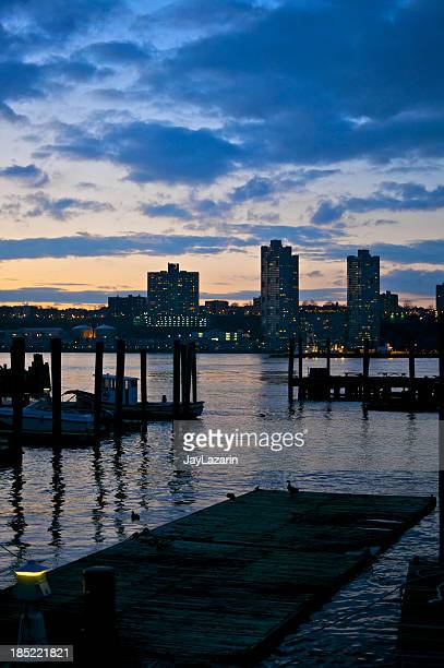 79th St Boat Basin and Hudson at Sunset