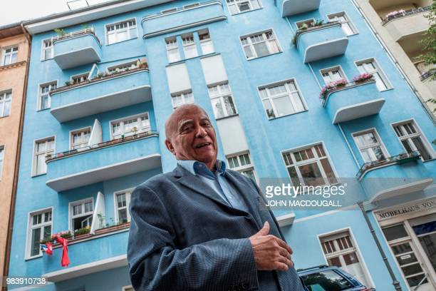 79yearold Berliner Alexander Kulpok who witnessed the Berlin Airlift first hand poses in front of the building in which he used to live close to...