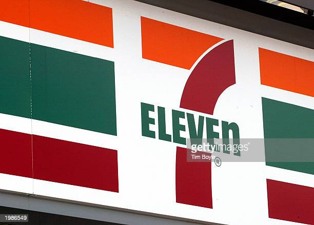 Eleven store logo is visible outside a 7Eleven store May 9 2003 in Des Plaines Illinois Dallas Texasbased 7Eleven Inc the world's largest convenience...