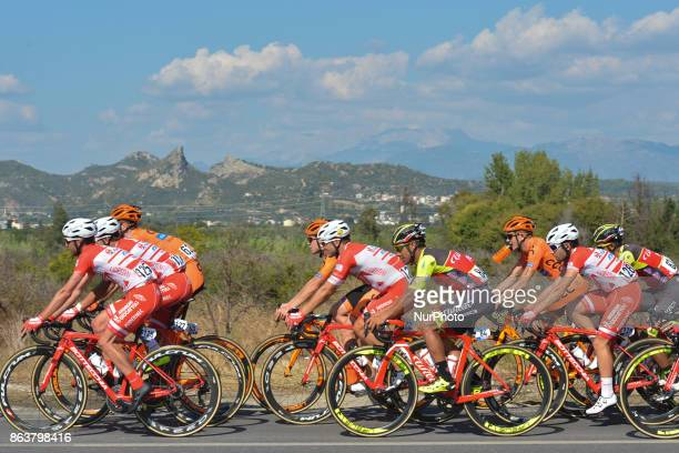 Riders from CCC Sprandi Polkowice Team during the opening stage the 1767km Alanya to Kemar of the 53rd Presidential Cycling Tour of Turkey 2017 On...