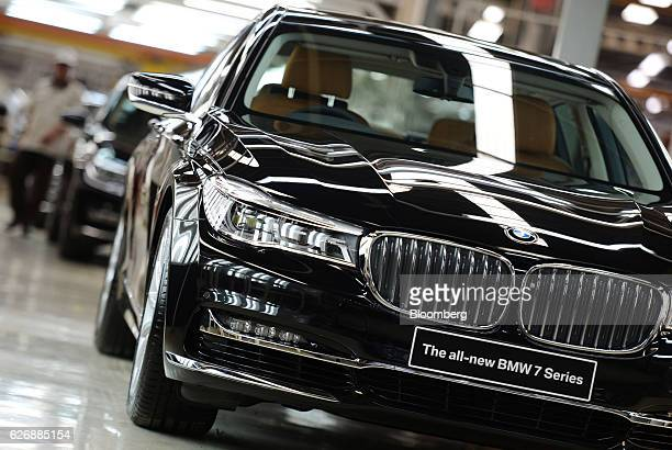 Series sedans stand at the assembly line of a PT Gaya Motor factory in Jakarta Indonesia on Wednesday Nov 30 2016 BMW plans to boost its investments...