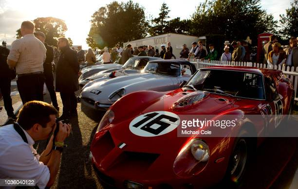 1961 Ferrari 250 GT SWB/C driven by Niklas Halusa/Emanuele Pirro in the Assembly Area for the KInrara Trophy race during the 20th anniversary of the...