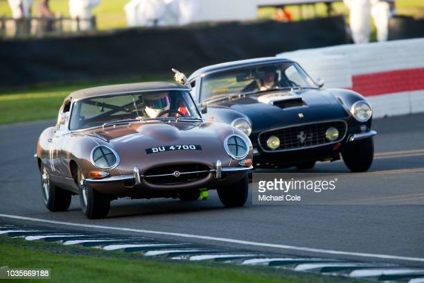 1961 Jaguar Etype driven byIan Dalglish/James Turner in the KInrara Trophy race during the 20th anniversary of the Goodwood Revival at Goodwood on...