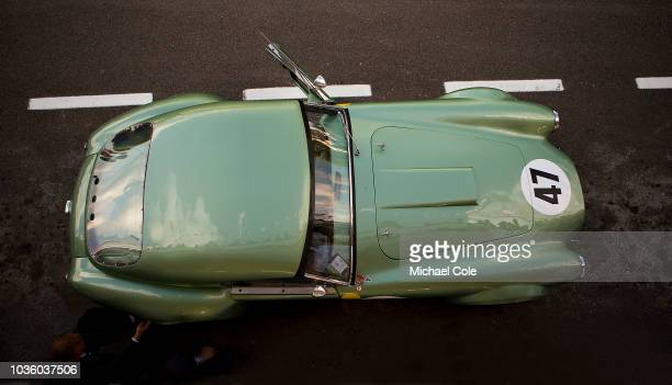 1963 AC Cobra in the pit lane driven by Bill Shepherd/Romain Dumas in the RAC TT Celebration race during the 20th anniversary of the Goodwood Revival...