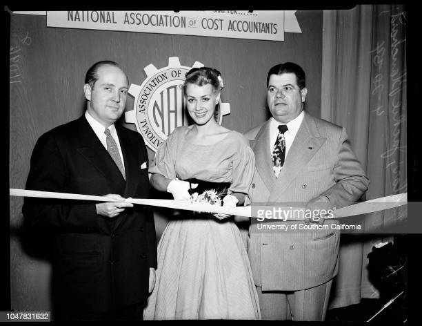 7th Annual Southern California business show at Biltmore 20 April 1954 RG Chollar Jackie Blanchard Don Allen Los Angeles California