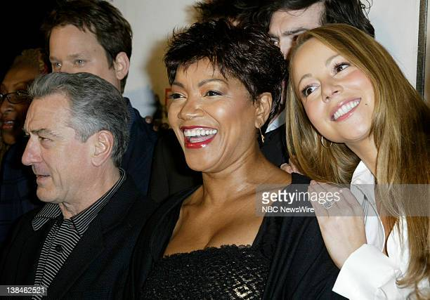 NBC NEWS 7th Annual Tribeca Film Festival Pictured Actor Robert De Niro wife Grace Hightower and singer/actress Mariah Carey attend the premiere of...