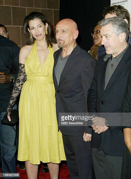 7th Annual Tribeca Film Festival -- Pictured: Actress Daniela Lavender and actors Sir Ben Kingsley and Robert De Niro attend the premiere of...