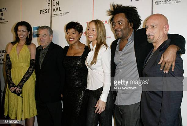 NBC NEWS 7th Annual Tribeca Film Festival Pictured Actress Daniela Lavender actor Robert De Niro and wife Grace Hightower singer/actress Mariah Carey...