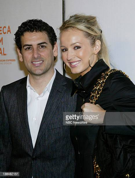 NBC NEWS 7th Annual Tribeca Film Festival Pictured Singer Juan Diego Florez and wife Julia Trappe attends the premiere of Speed Racer during the 7th...