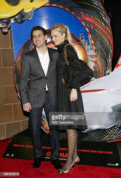 NBC NEWS 7th Annual Tribeca Film Festival Pictured Singer Juan Diego Florez and wife Julia Trappe attend the premiere of Speed Racer during the 7th...