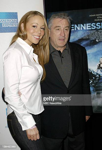 NBC NEWS 7th Annual Tribeca Film Festival Pictured Singer/actress Mariah Carey and actor Robert De Niro attend the premiere of 'Tennesse' during the...