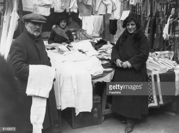 An underwear stall in Petticoat Lane Market East London