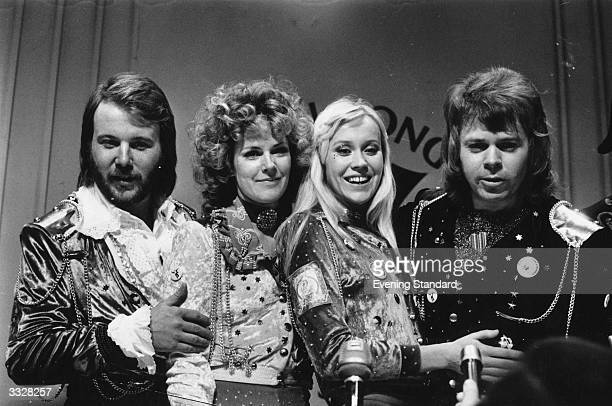Swedish pop group Abba, winners of the 1974 Eurovision Song Contest.