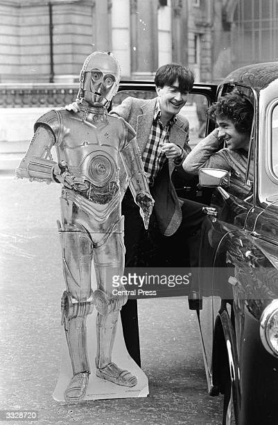 Actor Anthony Daniels who plays C3PO in Star Wars persuading a taxi driver that C3PO is quite friendly