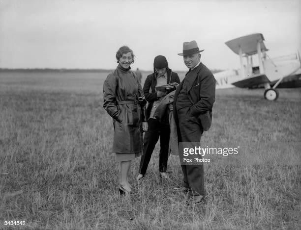 British aviatrix Amy Johnson at Heston Aerodrome