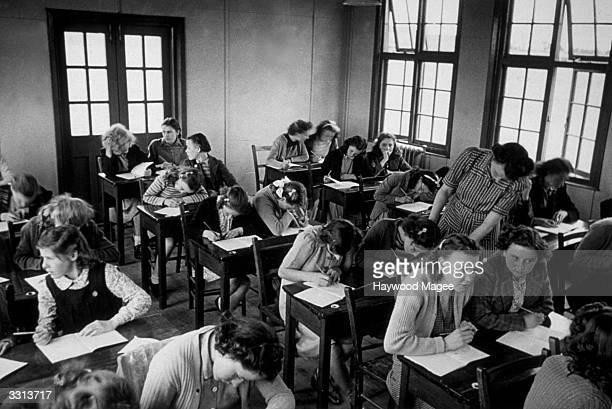 A classroom scene during a lesson at a school in Wakefield Original Publication Picture Post 4615 Wakefield Goes To Sea pub 1948