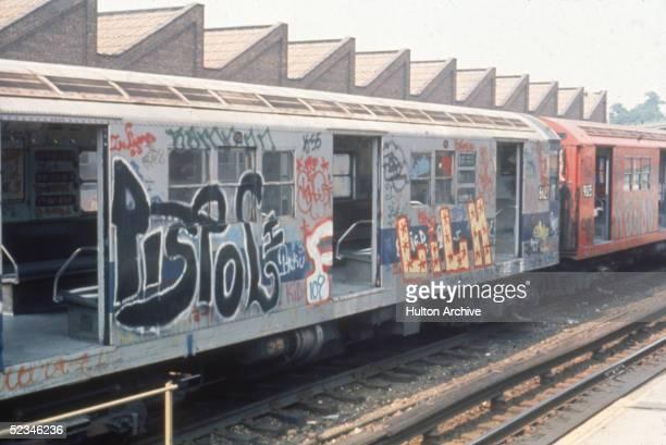 7th Ave Subway Train Covered In Graffiti