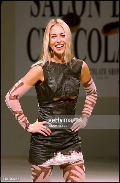 7th chocolate fair with a haute couture fashion show with dressed and lingerie made out of chocolate in Paris France on October 30 2001 Chocolate...