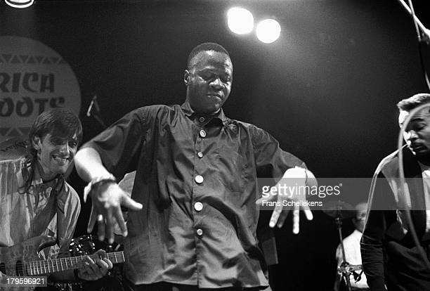 Congolese musician Papa Wemba performs live on stage at the Melkweg in Amsterdam Netherlands on 7th April 1989