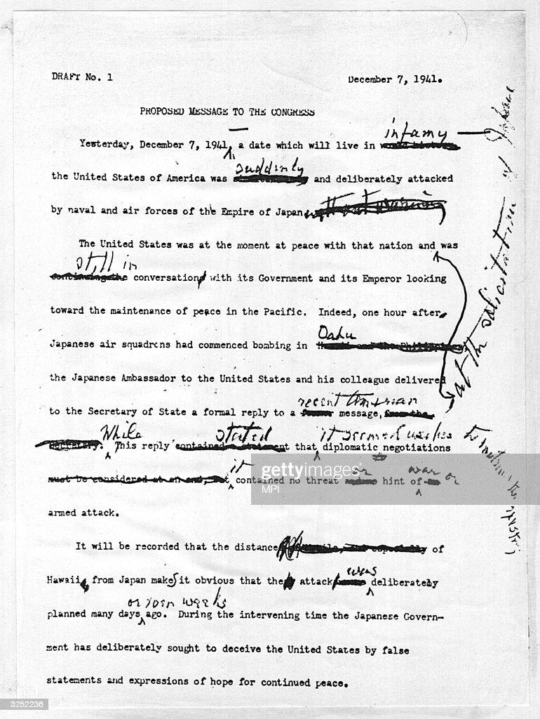 Roosevelt's Message To Congress : News Photo