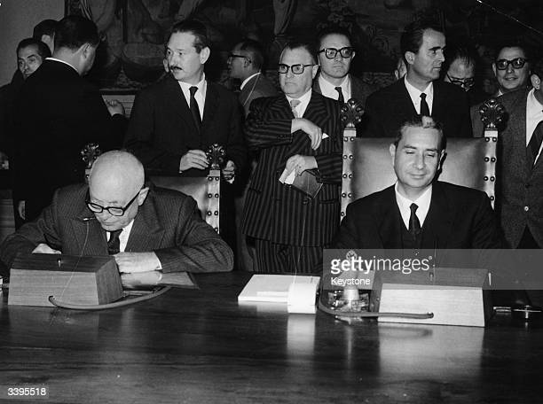 Italian Prime Minister Aldo Moro with his new cabinet