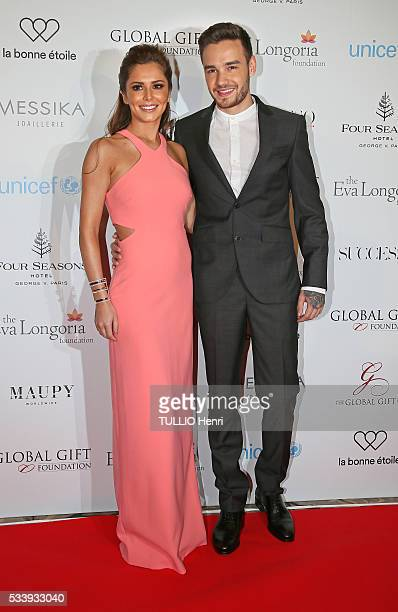7th edition of the Global Gift Gala diner in Paris at the Four Seasons Hotel George V Cheryl Cole and Liam Payne of the group One Direction in Paris...