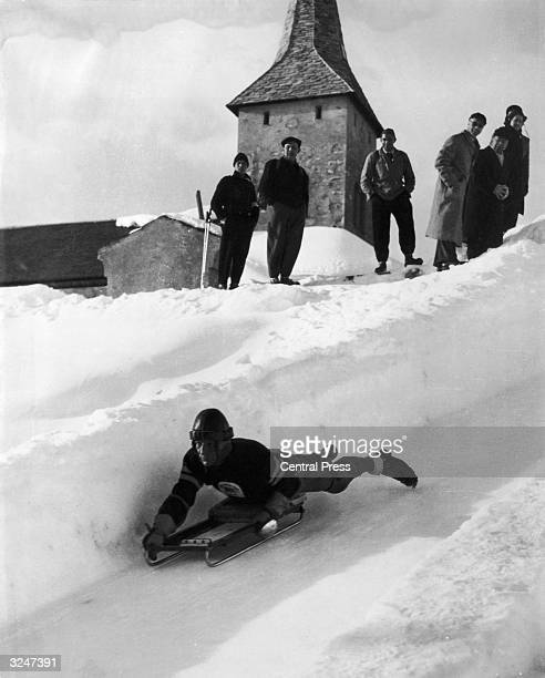 Bott of England, who was placed fifth in the Skeleton Bobsleigh event during the Winter Olympics at St Moritz.