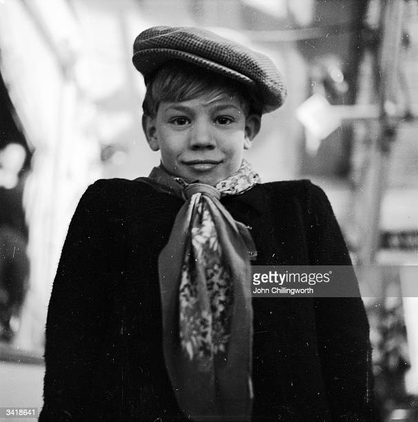One of the young residents of the Swiss village of Pestalozzi on set during production of the film 'The Village' by the Swiss Praesena Film company...