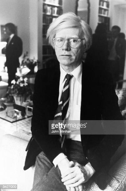 Pop artist Andy Warhol .