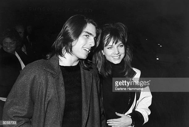 American actors Tom Cruise and Rebecca De Mornay attend a screening of John Hughes's film 'The Breakfast Club' held at the Director's Theater in Los...