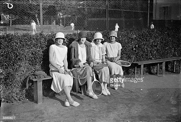 Tennis players Ruth de Udy Locha de Udy Dorothy Power and Betty Kaye in Cannes France