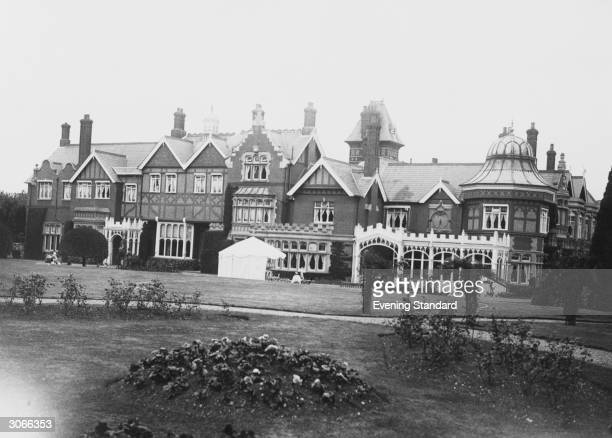 Bletchley Park Buckinghamshire HQ of the Allied cryptopgraphers during WW II and where the German 'Enigma' and 'Lorenz' codes both considered...