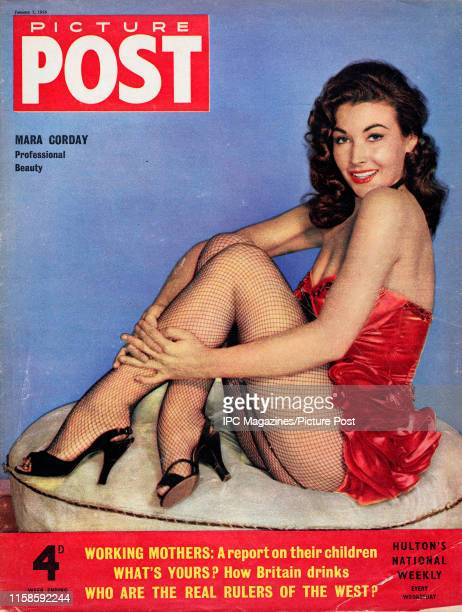 American actress and model Mara Corday is featured for the cover of Picture Post magazine Original Publication Picture Post Cover Vol 70 No 01 pub...