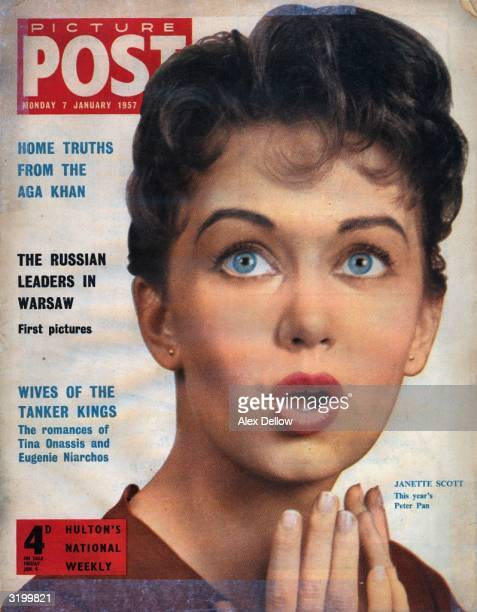 The cover of Picture Post magazine features 18yearold Janette Scott the 31st actress to play Peter Pan on the London stage The headlines on the left...